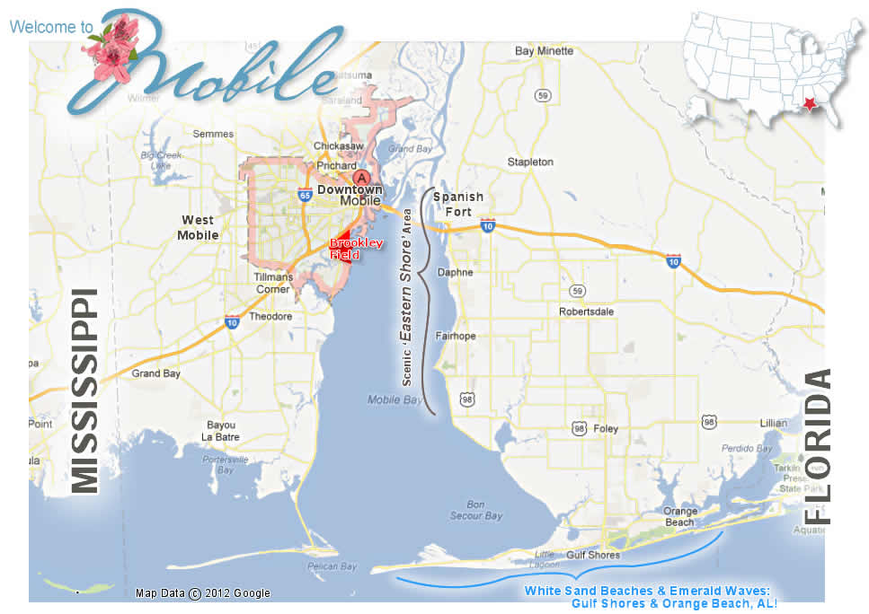 Mobile Alabama Map  Find Homes In Mobile Amp Baldwin